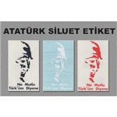 Atatürk Siluet Sticker No:2